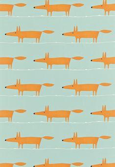 Mr Fox fabric by Scion