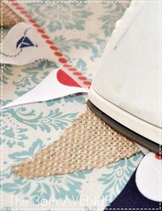 no sew washi tape and fabric Bunting Tutorial Iron Washi Tape Uses, Washi Tape Crafts, Masking Tape, Washi Tapes, Make Bunting, Fabric Bunting, Bunting Tutorial, Diy Garland, Garlands