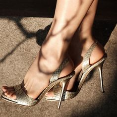 e438c339782 Erin DooleyPaul Andrew Shoes · Emerge from obscurity in the  PaulAndrew  LIVA sandal in Platinum metallic elaphe Flats