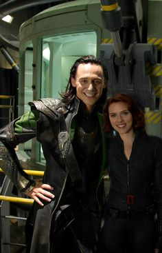 Marvel'sThe Avengers, Loki & Black Widow Love how Loki is going a typical girls shot with his hand on his hip (so sassy!)