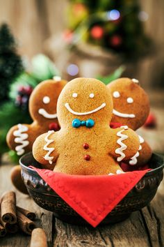 Photo of three Christmas cookies in a festive setting by mythja on Envato Elements