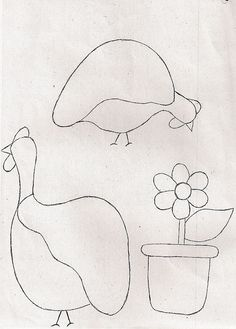 Molde galinha de Angola e vaso de flor by Pannuchik Atelier, via Flickr