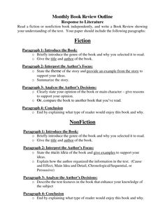 literary outline format