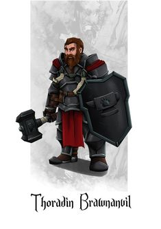 [Commission] Thoradin Brawnanvil - Dwarf Cleric : characterdrawing