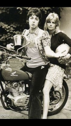 1973- Honda XL175 with The McCartney's aboard it!