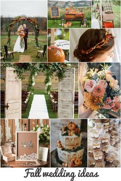 Fall wedding ideas #fallwedding #autumn #weddinginspiration #orangewedding #rusticwedding #bridetobe #bride2018 #weddingtheme #weddinginspiration #autumn #leaves
