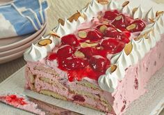 Make this scrumptious Vintage Lemon Strawberry Ice Box Cake using our new Fruit Toppers in cherry or strawberry.