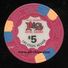 #LasVegasCasinoChip of the Day is a $5 Plaza Hotel & Casino 7th issue you can get here https://www.all-chips.com/ChipDetail.php?ChipID=13437 #CasinoChip #LasVegas