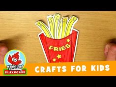 """Let's make a yummy french fries craft for kids and then sing the """"I Want Stew"""" song! Download this simple and fun craft for kids here: …"""