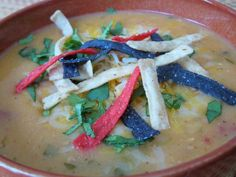 This recipe got almost 5 stars on this site. It's a mock recipe for Max n Erma's Tortilla Soup. I don't think obsession is a strong enough word for how I feel about this soup. Hope the recipe lives up to the real deal - I will definitely have to try it soon!