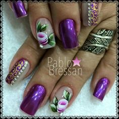 Unha elegante de Pablo Bressan. Elegant nail. Uña elegante. Unghie elegante.