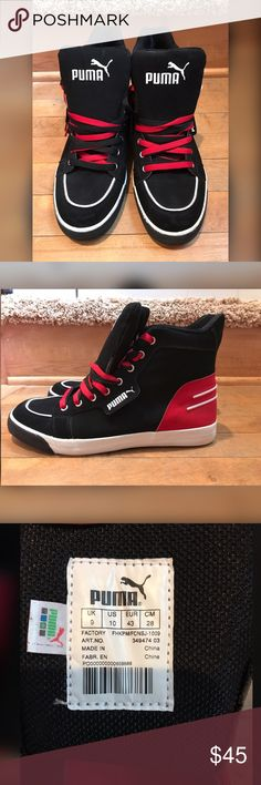 94625f88029 Men s High tops Practically new condition! Men s Puma size 9. Puma Shoes  Sneakers Mens