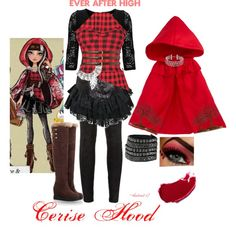 ever after high costume cerise hood | fashion look from October 2013 featuring Glamorous dresses, Harrods ...