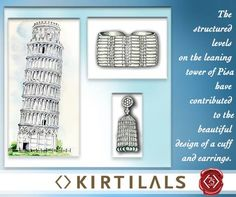 Today our artists are inspired by the #LeaningTowerofPisa . This inspiration highlights the fact that Kirtilals designers draw inspiration from everyday wonders. #diamondjewellery #iheartdiamonds