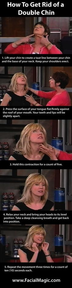 How To Get Rid of a Double Chin Doing Facial Exercise www.FacialMagic.com Click to view video: www.youtube.com/... #facialexercise #facialmagic by red_birdie