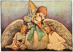 Shop Vintage Mother Goose Children Jessie Willcox Smith Poster created by YesterdayCafe. Jessie Willcox Smith, Charles Perrault, Vintage Nursery, Mother Goose, Arte Pop, Children's Book Illustration, Vintage Children's Books, Up Girl, Nursery Rhymes