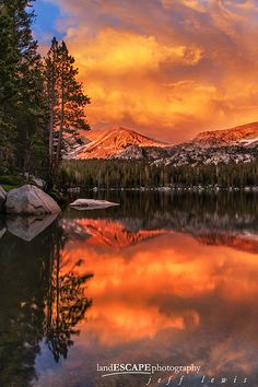 Yosemite Backcountry Sunset - Lower Young Lake, Yosemite National Park