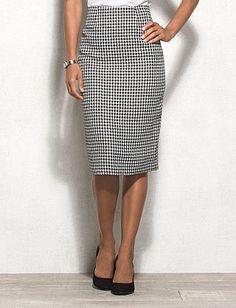 JONES STUDIO® Houndstooth Skirt