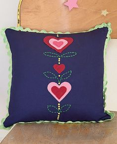 Appliqué Heart Pillow from #HannaAndersson.