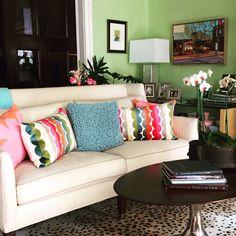 Colorful, happy Living room. #decorum_rva