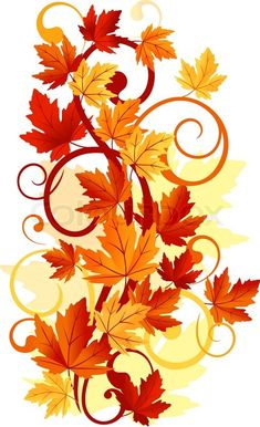 Stock vector of 'Autumnal leaves background for thanksgiving or seasonal design' -- Invite watercolor instead of border if we go that route Bordado Popular, Leaf Clipart, Leaf Background, Autumn Leaves Background, Iphone Wallpaper Fall, Paper Frames, Fall Pictures, Autumn Art, Leaf Art