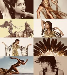 Greek Mythology Dreamcast -Naomie Harris as Bia …the spirit of force, power, might, bodily strength and compulsion. She and her sister Nike, and brothers Kratos and Zelos, were the winged enforcers of Zeus who stood in attendance about his throne. (x)