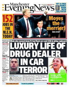 The front page of the north edition of the Manchester Evening News on Thursday, September 26, 2013.