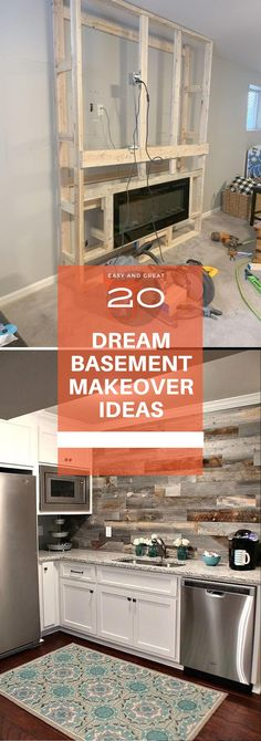 Dream Basement Remodeling & Renovation ideas - tips Before & After Ideas Basement Decorating, Basement Makeover, Basement Remodeling, Diy Decoration, Diy Home Decor, Simple Diy, Easy Diy, Rustic Stairs, Diy Ideas