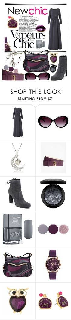"""Dress on Fall with #newchic"" by anin-kutak ❤ liked on Polyvore featuring Moschino, Anja, Brooks Brothers, Stuart Weitzman, MAC Cosmetics, Smith & Cult, Henry London, Monet, Kate Spade and chic"