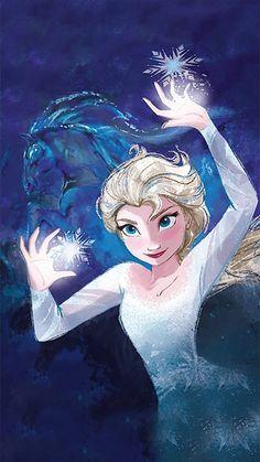 Frozen 2 phone image with Elsa and Nokk Disney rajzok
