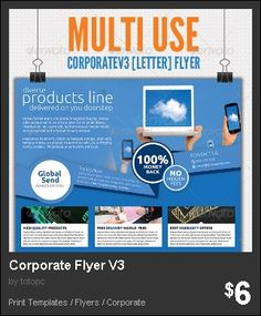Corporate Flyer V4 - 4rd Edition of Multi-use Corporate Flyer ...