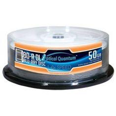 OPTICAL QUANTUM OQBDRDL06WIPH-25 50GB 6X BD-R DL WHITE INKJET HUB PRINTABLE 25PK by Optical Quantum. $96.93