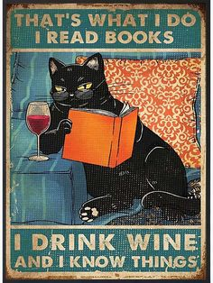 Crazy Cat Lady, Crazy Cats, Cute Cats, Funny Cats, Wallpaper Bonitos, Books To Read, My Books, Black Cat Art, Cat Posters