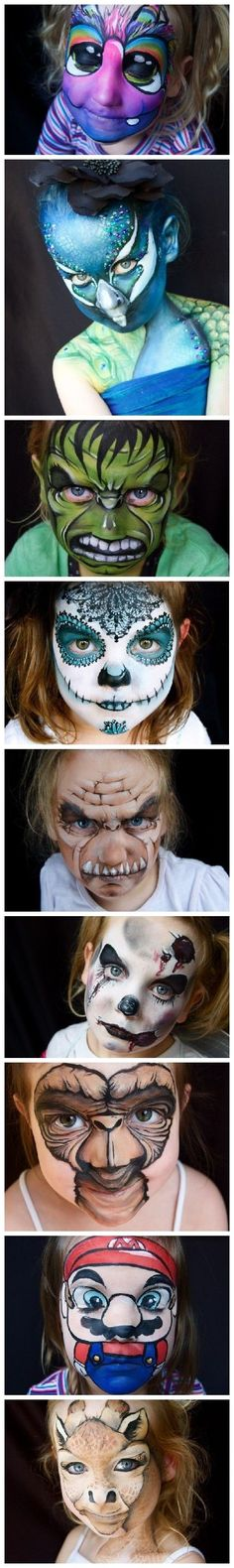Various Child Full Face Makeup Ideas: