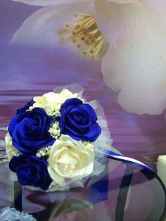 Фальш-букет в синем, wedding accessories