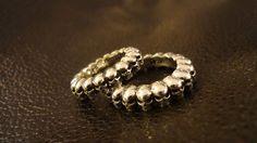 #Argollas de Plata para #aniversario de #matrimonio, diseño #Calaveras, impresión 3D y terminado a mano #hechura #joyas / Silver #Wedding #anniversary #Rings, #Skull Design, Casting and 3D print, Hand Finished #hechura #jewelry