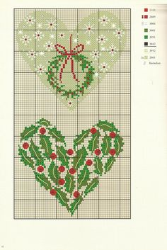 Christmas Hearts: Free patterns