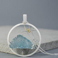 Peaceful Mountain Necklace - Silver - Bird
