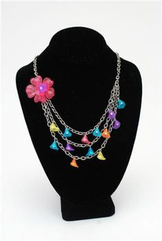 Full Bloom Necklace - DIY Chain, Bead and Brooch Jewelry