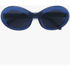 Prism San Francisco Round Sunglasses ($260) ❤ liked on Polyvore featuring accessories, eyewear, sunglasses, blue, blue glasses, round sunglasses, prism sunglasses, prism eyewear and round frame sunglasses