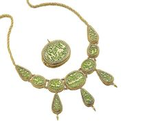 A suite of Victorian Petábgarh jewellery, Indian Royal Jewelry, India Jewelry, Jewellery, Antique Jewelry, Auction, Gold Necklace, Victorian, Indian, Stone