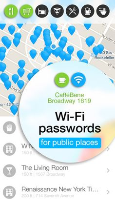WiFi Map — Passwords for free wireless internet access in public places hotspots. Good alternative for roaming. on the App Store