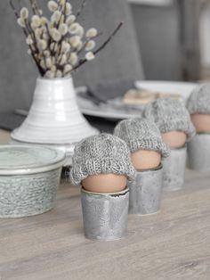 Mützen für Frühstückseier selber stricken