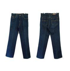 HAWK Dark Denim Jeans High waist rise Pleat front w Straight leg High Waist Jeans, Denim Jeans, Legs, Dark, Pants, Fashion, Trouser Pants, Moda, High Waisted Mom Jeans