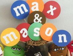 Max and Mason's M&M's Birthday Party - M&Ms