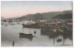 C 1910 China Hong Kong Postcard Hong Kong Harbour Jank and Sampan | eBay