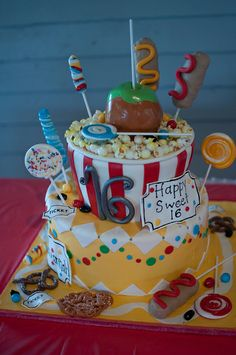 Carnival Sweet 16 Love this cake idea.