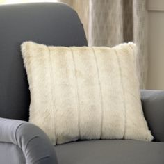Norma Faux Fur Pillow Cover #birchlane