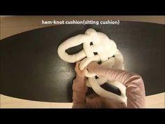 HEM - Knot Cushion / Dark Gray | mo + me
