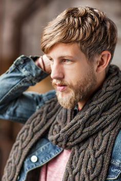 Quay is a beautiful cabled scarf designed by Jared Flood.